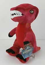 "Jurassic World Plush Dinosaur TRex Stuffed Animal 12"" Red Toy Factory RED NEW"