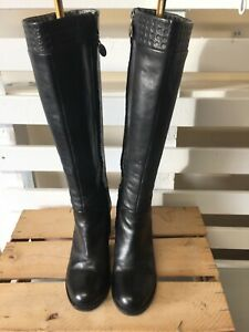 Gorgeous GEOX Black Leather & Fleece Lined Boots UK6.5