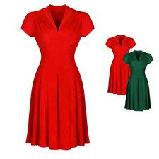 Kurzarm Damenkleider aus Baumwollmischung für Cocktail-Anlässe