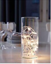 Ikea 12 Led Lighting Holiday String Light Set White Battery Operated Sardal New
