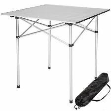 Table de camping de jardin pliable pliante en aluminium portable 70x70x70cm