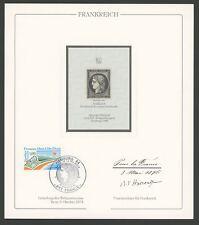 FRANCE No. 1 REPRINT UPU CONGRESS 1984 OFFICIAL DELEGATE GIFT !! RARE !! z2581