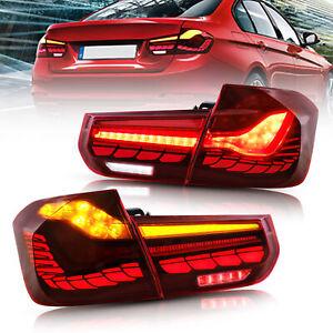 VLAND OLED Tail Lights For BMW 3-Series F30 F35 F80 6th Gen Sedan 2012-18 Pair