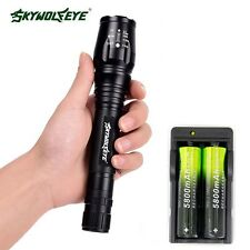 Zoomable 12000 Lumen 5 Modes XML T6 LED Torch Flashlight 18650&Charger QL