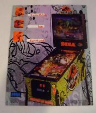 "NICE 1997 Sega ""Lost World Jurassic Park"" Pinball Sales Flyer Free USA Shipping!"