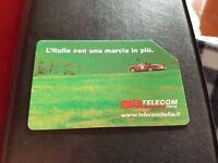 Scheda telefonica Italia Telecom Mille Miglia tiratura 50000