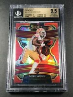 DEEBO SAMUEL 2019 PANINI SELECT #29 RED PRIZM REFRACTOR ROOKIE RC /99 BGS 9.5 10