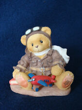 Cherished Teddies - Lance - Boy With Toy Plane Figurine - 1998 Event - 337463