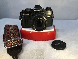 MINOLTA X-700 MPS W/ MINOLTA MD 50mm f 1:1.7 CAMERA ALL BLACK!