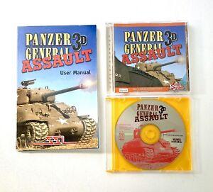 Panzer General Assault 3D Windows 95 & 98 Game w/ Manual SSI UBI Soft X2 Discs