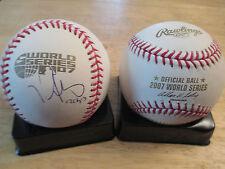 1st Base Coach LUIS ALICEA signed BOSTON RED SOX 2007 World Series Baseball COA