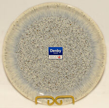 "DENBY - Blue Gray Cream Brown  HALO - Speckled Coupe DINNER PLATE 10"" *BRAND NEW"