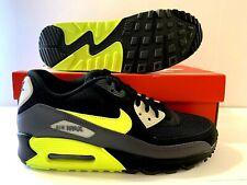 best sneakers 73f09 b7c38 Nike Air Max 90 Essential Dark Grey Volt-Black Mens Running Shoe AJ1285-
