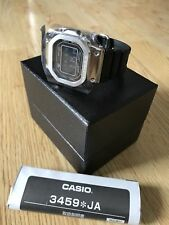 Casio G-shock GMW-B5000-1 Plata Full Metal Square Resina Banda Japón Ltd Edt Dlc