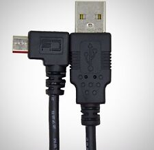 CableDeconn 5Ft Right 90Degree Angled Micro USB Male to USB Data Charge Cable