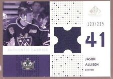 JASON ALLISON /225 $12 KINGS JERSEY PATCH SP 2002-03 UPPER DECK UD GAME USED