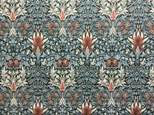 William Morris Curtain Fabric 'Snakeshead' 60cm Thistle/Russet - Linen Blend