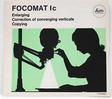 Leitz Wetzlar Focomat Ic Enlarger Sales Brochure Booklet 1970s