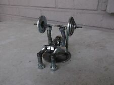 Weight Lifter Metal Bolt Figurine