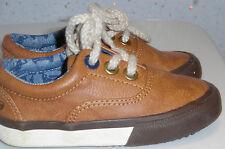 Niño del niño siguiente Marrón Tostado Zapatos Talla 4 Estilo Forrado coche insignia caminar cordones de Vivero