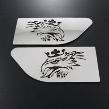 2x Stainless Steel Wing Panel Decorations for Scania R GRIFFIN mirror polished