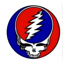 "2 - Grateful Dead Steal Your Face 3.5"" Round Sticker"