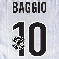 BAGGIO PERSONALIZZAZIONE INTER PRINT NOME NUMERO AWAY KIT NAME SET 1998-99