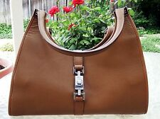 Authentic GUCCI - Brown Leather Double Handle Handbag - Used Once - FREE SHIP!