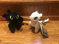 "How to Train Your Dragon 3 Hidden World Toothless Light Fury Plush Lightfury 8"""