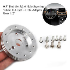 """0.5""""Hub for 5&6 Hole Steering Wheel to Grant 3 Hole Adapter Boss 1/2"""" w/9 Screws"""