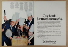 1967 Braniff Airlines Board of International Chefs vintage print Ad