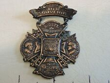 "Rare 1900 2+"" Copper Wagner Abst. NYC Brooklyn German Souvenir Medal Pin"