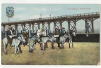 The Natives Cleethorpes Lincolnshire Donkeys Vintage Postcard 761b