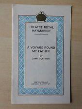 August 1971 - Royal Haymarket Theatre Playbill - A Voyage Round My Father