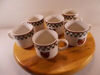 Lot Of 6 New Vintage Betty Crocker Country Inn Collection Apple Coffee Cups