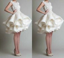 2016 New white ivory Short Bridal Gown Wedding Dress Custom Size 4-6-8-10-12-14+
