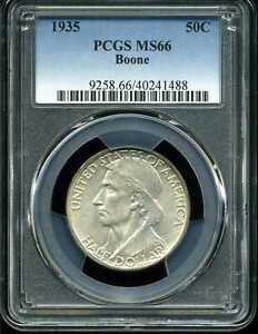 1935 50C Boone Commemorative Half Dollar MS66 PCGS 40241488
