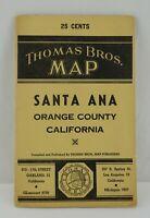 1943 Thomas Brothers Santa Ana Orange County CA Vintage Map