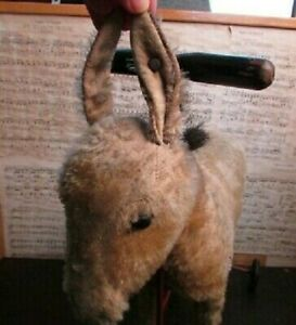 Antique Steiff Rolling Ride-On Toy ~ Donkey Toy on Wheels ~ Mohair