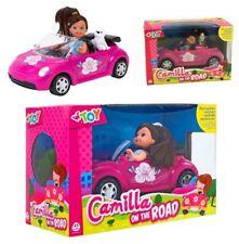 Automobile cabriolet cm 21 Camilla on the road con bambola e cane cagnolino
