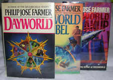 Dayworld Trilogy by Philip José Farmer - First Print First Edition HC's in DJ's