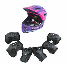 CIGNA Kids Cycling Bike Convertible Helmet Purple S-size w/Black protective pads
