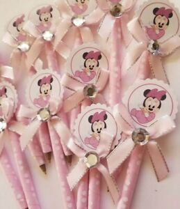 Minnie Mouse Baby Shower Pens Customized Pens Handmade 12 Pieces