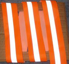 Silver Orange Reflective Tape Sew On Material 1 Yardx2