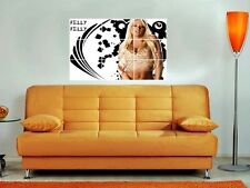 """Kelly Kelly Large 35""""X25"""" Inch Mosaic Wall Poster Wwe Tna Wrestling"""