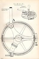 1880 Aufdruck ~ Kreis Astronomical DOLLAND'S Verbessert Reflektierend