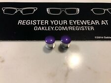 New Oakley Jawbone/Racing Jacket/Split Jacket Anodized Purple Thru Bolt Set