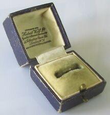 Vintage Herbert Wolf Ltd Square Jewellery Presentation Ring Box