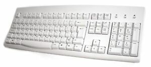 Accuratus 260 - USB Full Size Keyboard with Full Height Keys - Off White