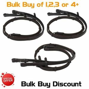 Super Leather grip Anti Slip Reins Continental Web Hand Stop Brown Full Set Buy